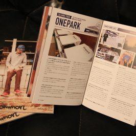 Common Magazine ISSUE Oneparkの特集記事を載せて頂きました!!